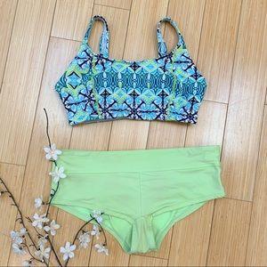 ATHLETA bikini boyshorts bathing suit set, M.